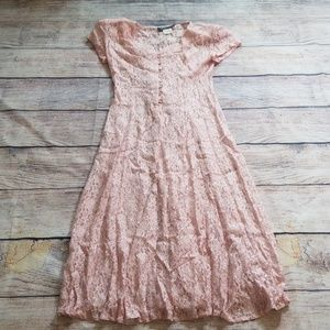 Vintage All That Jazz pink lace 5/6 dress